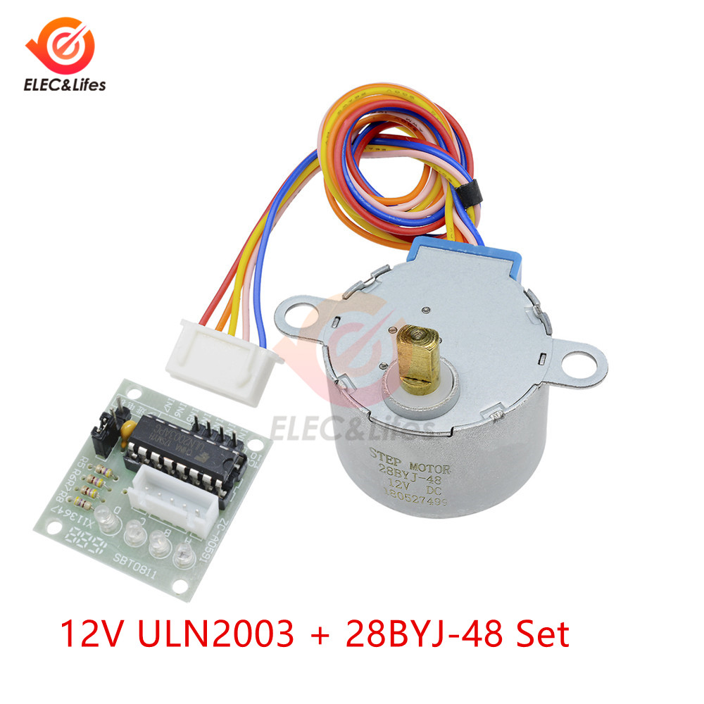 2PCS 28BYJ-48 Valve Gear Stepper Motor DC 5V 4 Phase Step Motor Reduction