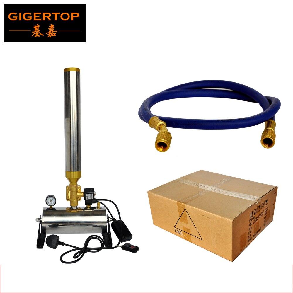 Freeshipping By Fedex 1pcs Remote Control Mini Confetti Cannon Machine AC90V 240V Air Compressor Confetti Blaster