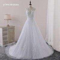 Yiwumensa vestidos de novia vestidos de novia vestidos de Novia 2017 apliques de Encaje vestido de novia robe de mariee Sexy Backless trouwjurk
