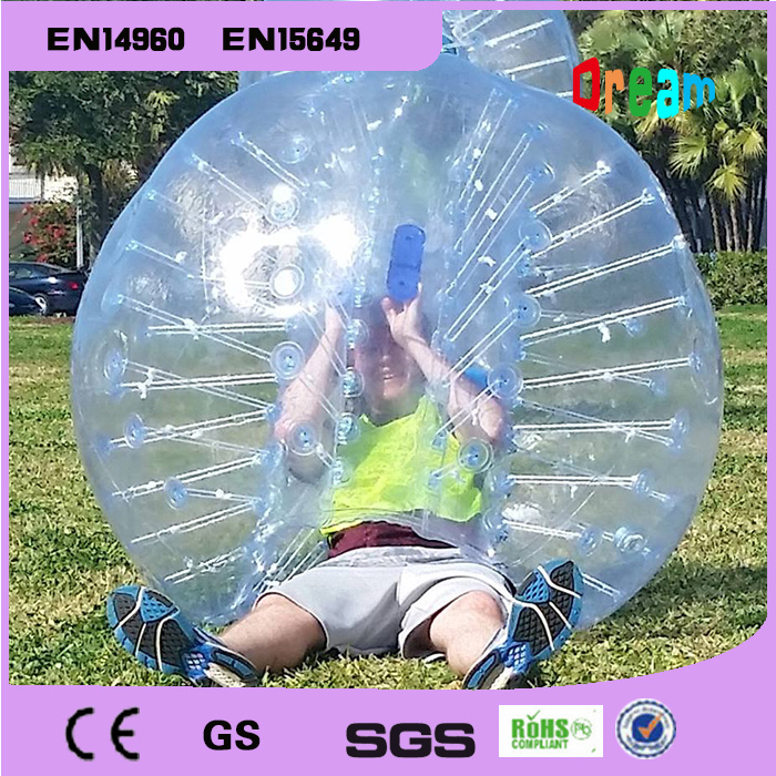 Gratis forsendelse 1.5m TPU Human Bubble Ball For Voksen Soccer Bubble Ball Opblåsbar Bubble Fodbold Air Bumper Ball Body Zorb Ball