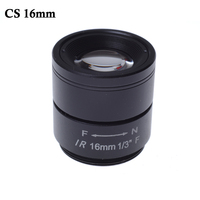 Wholesale CCTV CS Lens 16mm 20degree 1 3 F1 2 CCTV Fixed Iris IR Infrared CS