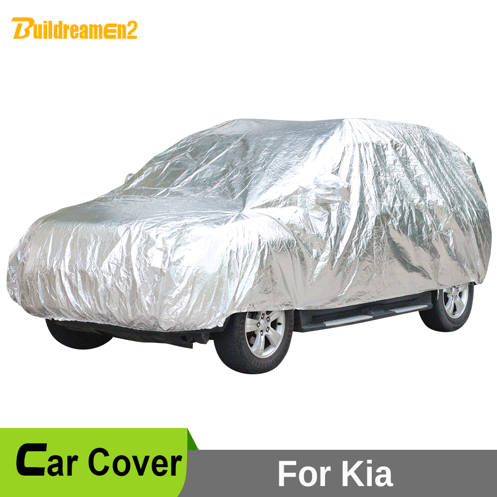 Buildreamen2 Full Car Cover Waterproof Sun Snow Hail Rain Scratch Protective Car Covers For Kia Sportage Borrego Carens Sorento buildreamen2 car cover waterproof suv anti uv sun shield snow hail rain dust protective cover for gmc terrain acadia envoy yukon