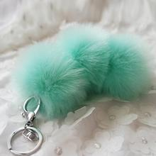 Starry-Styling Artificial Rabbit Fur Ball Keychain Women Bag ey Ring Car Key Pendant Delicate High Quality