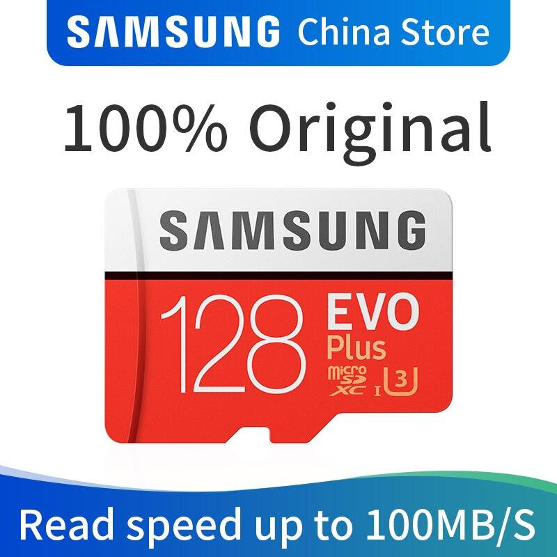 SAMSUNG Memory Card EVO PLUS 128GB micro SD SDHC SDXC Grade CLASS10 UHS-I U3 4K TF Cards Trans Flash microSD