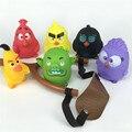 2016 Новейшие Squeeze Игрушка Летающий Красные Черные Птицы Свинья Фигурки и Игрушки Звук Детские Игрушки с Рогатки
