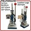 8 10cm Manual Stamping Machine Leather Printer 5 7cm Hot Foil Stamping Machine Marking Press Embossing