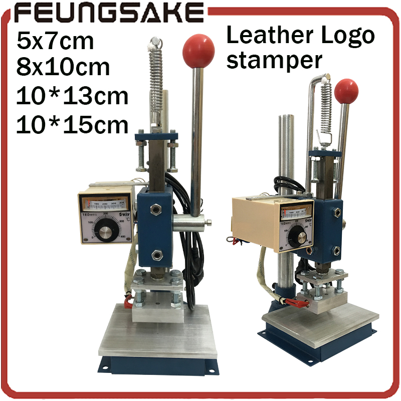 8*10cm Manual Stamping Machine,leather printer, 5*7cm hot foil stamping machine,marking press,embossing machine 10x15cm area hot stamping machine hot foil pneumatic stamping press logo printer for leather paper etc customized printable area zy 819b