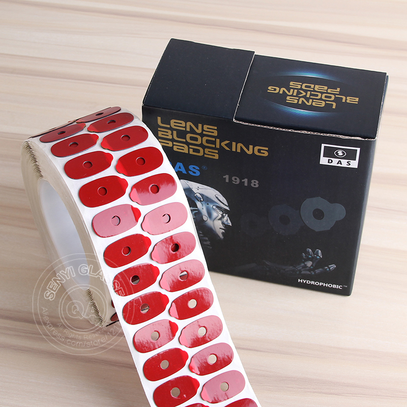 1000pcs roll High Quality Hydrophobic Lenses Sticker Pads Optical Eyeglasses Lens Glue Edging Adhesive Blocking
