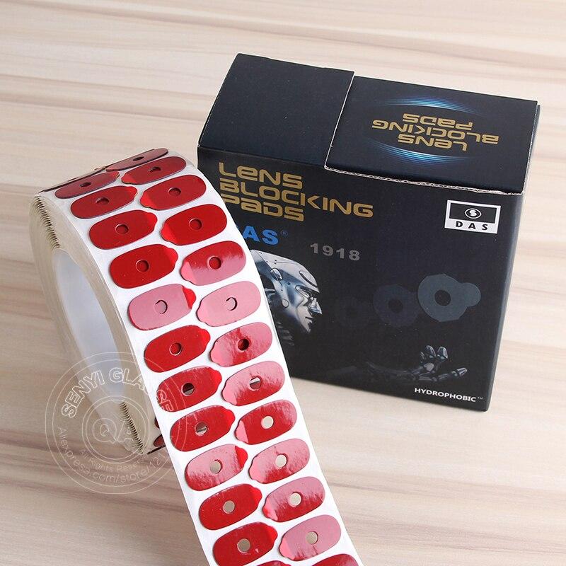 (1000 pcs/roll) lentes Hidrofóbicas Sticker Pads de alta Qualidade Óculos Ópticos Lente Afiação de Cola Adesiva Almofada de Bloqueio Acessórios