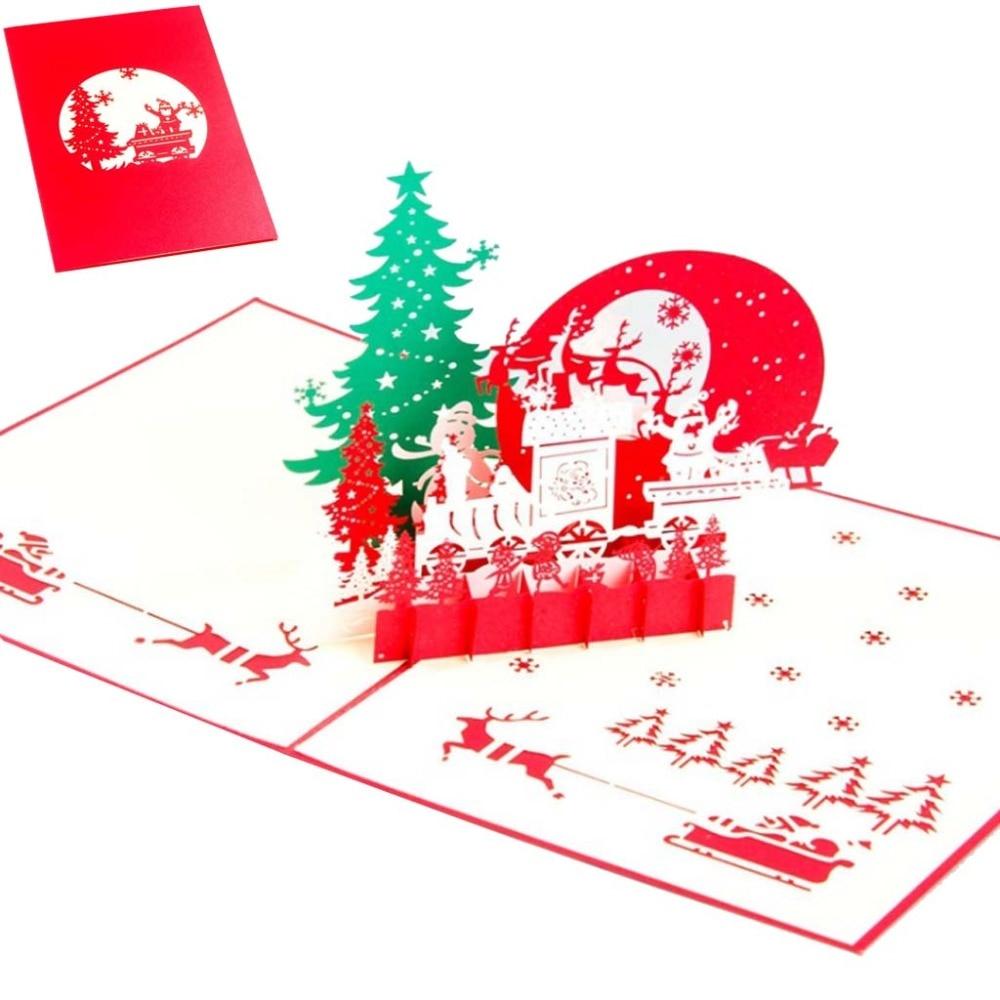 Christmas Eve 3D Pop Up Greeting Card Handmade Birthday