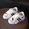 2017 nova moda linda iluminação led shoes bebê de alta qualidade bonito da princesa das meninas dos meninos shoes vendas quentes brilhantes tênis bebê