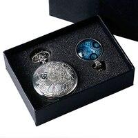 Luxury Gift Set Doctor Who Pocket Watch Necklace Pendant Vintage Men S Quartz Silver Fob Chain