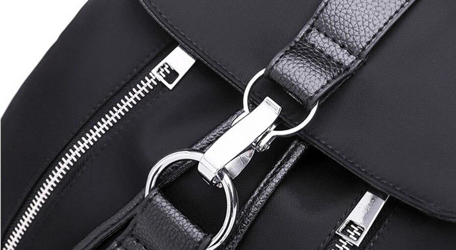 HTB1A4kOJ1uSBuNjy1Xcq6AYjFXaU Women Backpack School Bags For Teenager Girls Nylon Zipper Lock Design Black Femme Mochila Female Backpack Fashion Sac A Dos