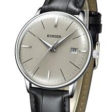 2017 Бингер механические часы Для мужчин брендовые Роскошные Для мужчин автоматического Часы сапфир наручные часы мужской Водонепроницаемый Reloj Hombre B5078M-5