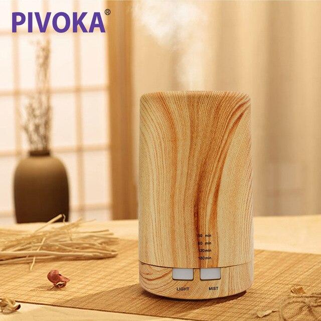 PIVOKA eléctrica Aroma de aceite esencial difusor ultrasónico humidificador de aire de aceite esencial de aromaterapia humidificador fresco de la niebla