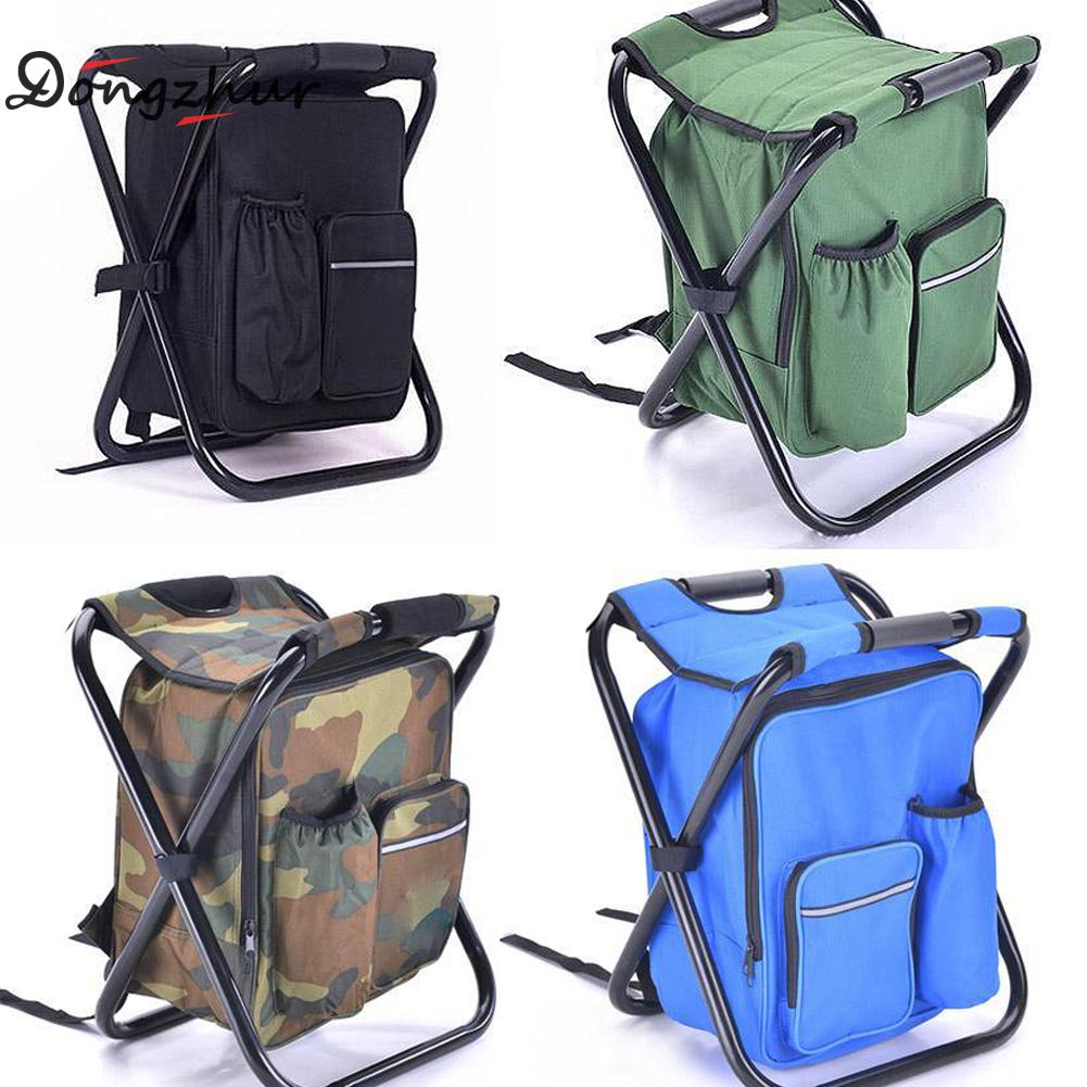 New Foldable Fishing Chair Backpack Camouflage Oxford Cloth Metal Tube Portable Fishing Equipment Bifunctional Fishing Bag Chair camouflage outdoor fishing chairs bag foldable 600d oxford peva waterproof layer cool fishing bag multifunctional sport backpack