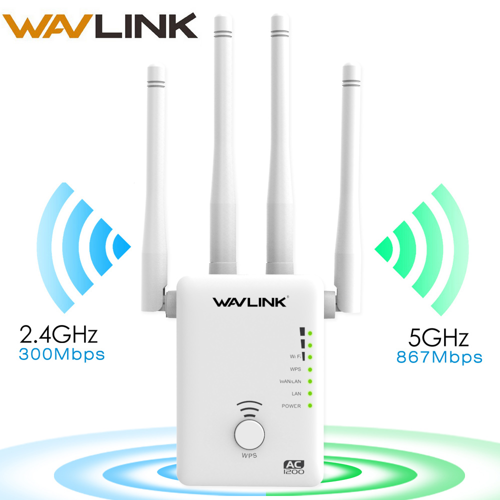 Wavlink 802.11ac Wireless Wifi Repeater/Router 5Ghz 1200mbps Dual-band WIFI Network Extender Wi-fi Amplifier Long Range Booster