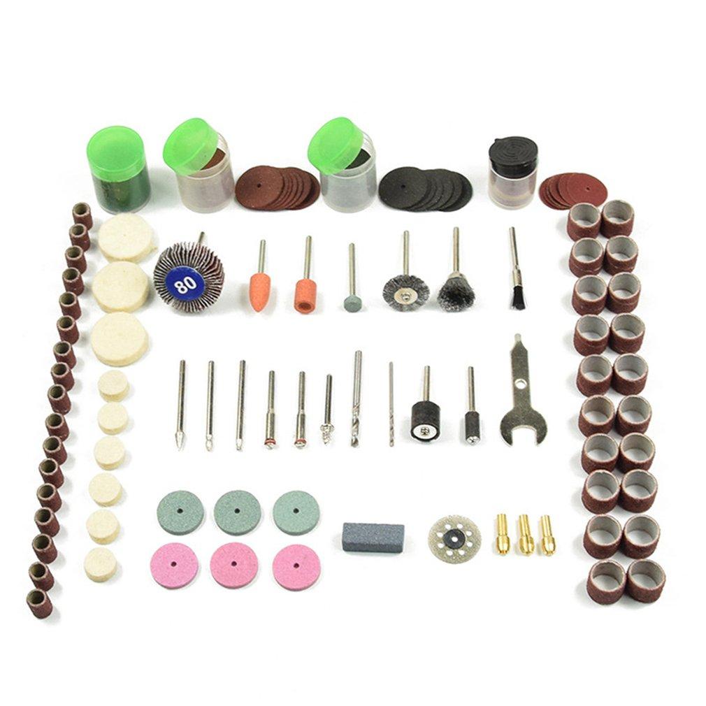 196pcs Rotary Power Tool Set Mini Drill Grinder Polishing Kit Felt Wheel Accessories Cutting Disc Wood Work Drilling Bit
