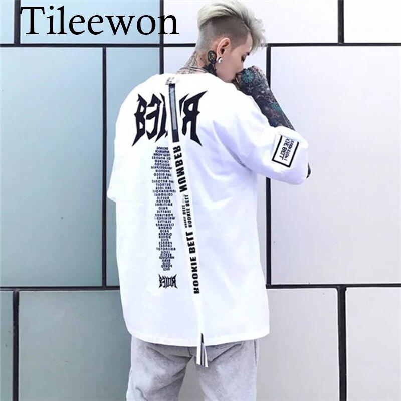 Hip Hop T Shirts Male Short Sleeve Men Letter Print Tshirt Streetwear Casual Summer T Shirt Boys 2019 Cool Punk Shirt Men Women
