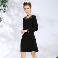 Flower Sequined Women Elegant Dresses 2018 High Quality Fashion 5XL Plus Size Elegant Ladies Slim Fit