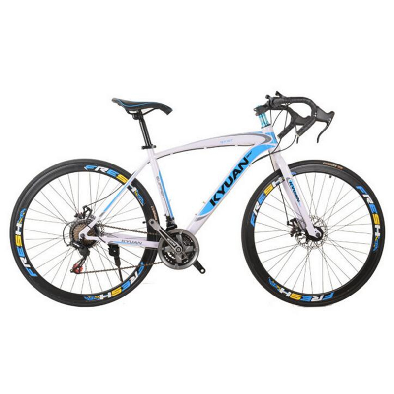 High Quality 700C 21 Speed Turn Mountain Bicycle Double Disc Brake Road Racing For Male And Female Students