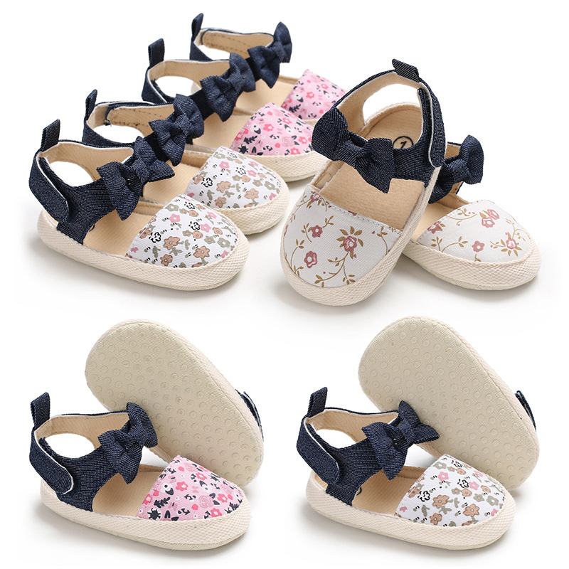 New Born Baby Girl Shoes Princess Small Flower Soft Cotton Toddler Crib Infant Baby Shoes Kid Sole Anti-slip First Walkers