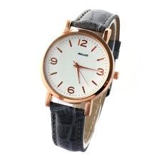 Fashion Unisex Women's Vintage Quartz Wrist Watch Casual PU Leather Band Analog