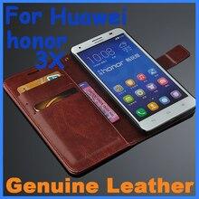 Натуральная кожа чехол Высокое качество Huawei Honor 3X кожаный чехол откидная крышка для Honor 3X Honor 3X чехол Бизнес Бумажник стиль обложка