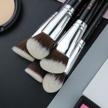 BEILI 1Pc Kabuki Brush Soft Dense Grey Synthetic Hair Powder Foundation Blusher Contour Makeup Brushes