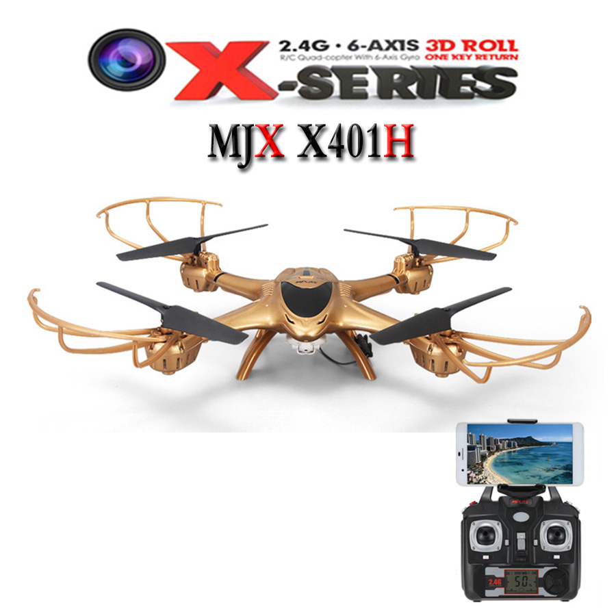 Free Shipping MJX X401H WIFI FPV 0.3MP HD Camera Drone RC Quadcopter Altitude Hold 3D Flip Helicopter RTF