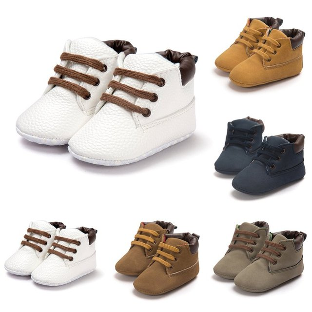 Baby Shoes Boys Toddler Soft Sole Crib Slip-On Pre-walker Infant First Walker