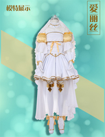 Japanese Anime Sword Art Online Actress Alice Synthesis Cosplay Costume White Wedding Dress Beautiful Woman Dress