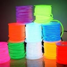 EL Dây 50M 100M 200M 500M 10 Màu Sắc Dây Ống Cáp 2.3 Mm DIY Dây Đèn LED linh Hoạt Đèn Neon Phát Sáng Đảng Thanh Vũ Trang Trí