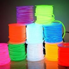 El Draad 50M 100M 200M 500M 10 Kleuren Touw Buis Kabel 2.3 Mm Diy Led Strip flexibele Neon Light Glow Party Bar Dans Decoratie