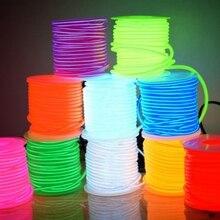 EL Wire 50 м, 100 м, 200 м, 500 м, 10 цветов, трубчатый кабель 2,3 мм, Светодиодная лента DIY, гибкий неоновый светильник, светящиеся вечерние украшения для танцев