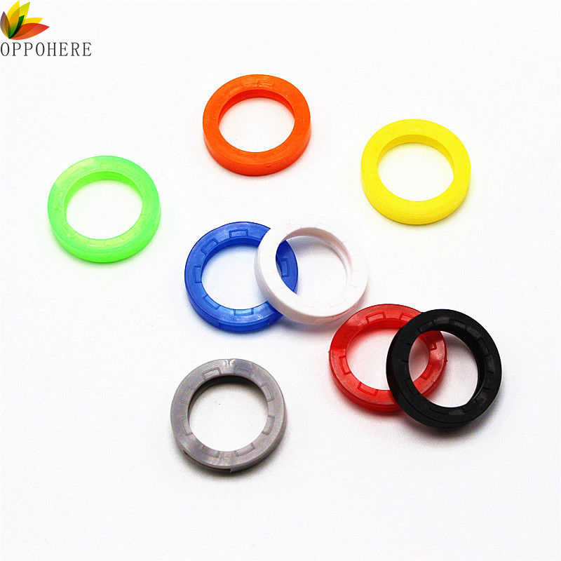 Elastic Hollow Silicone Key Cap Covers Key Rings Colorful Color Identify Topper