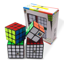 4PCS/Set Best Birthday Gift 2x2x2 3x3x3 4x4x4 5x5x5 Stickerless Magic Cube set Puzzle Boys 2*2*2 3*3*3 4*4*4 5*5*5 Moyu Cubes