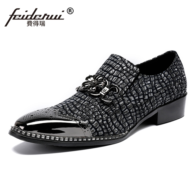 Plus Size New Arrival Man Moccasin Carved Brogue Loafers Genuine Leather Round Toe Slip on Men's Banquet Casual Shoes SL236
