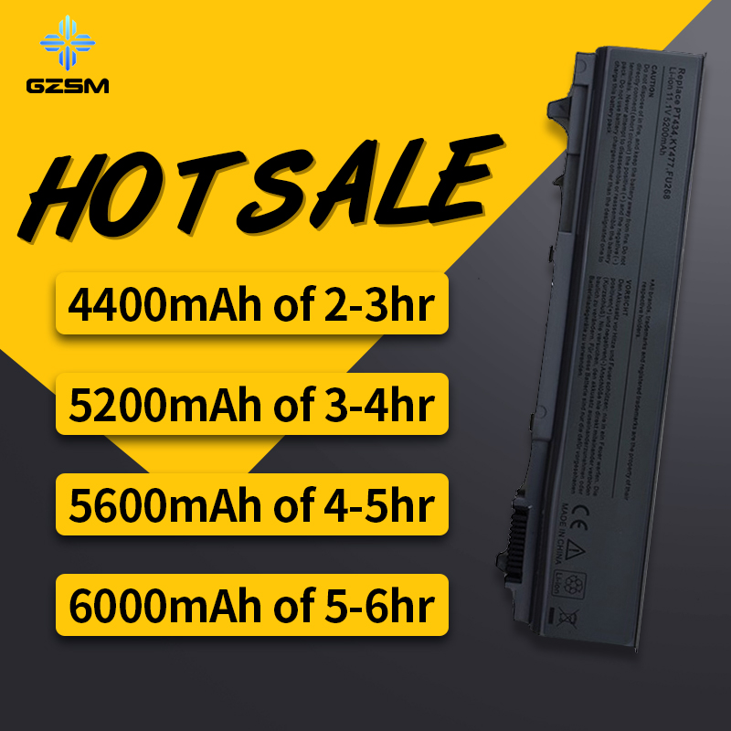 HSW Laptop Battery For Dell Latitude E6400 M2400 E6410 E6510 E6500 M4400 M4500 M6400 M6500 1M215 312-0215 312-0748 312-0749