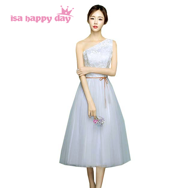0b9e2d188 8th grade formal girls birthday outfits sweet 16 dresses short one shoulder  grey graduation dress ball gowns under 100 H4089