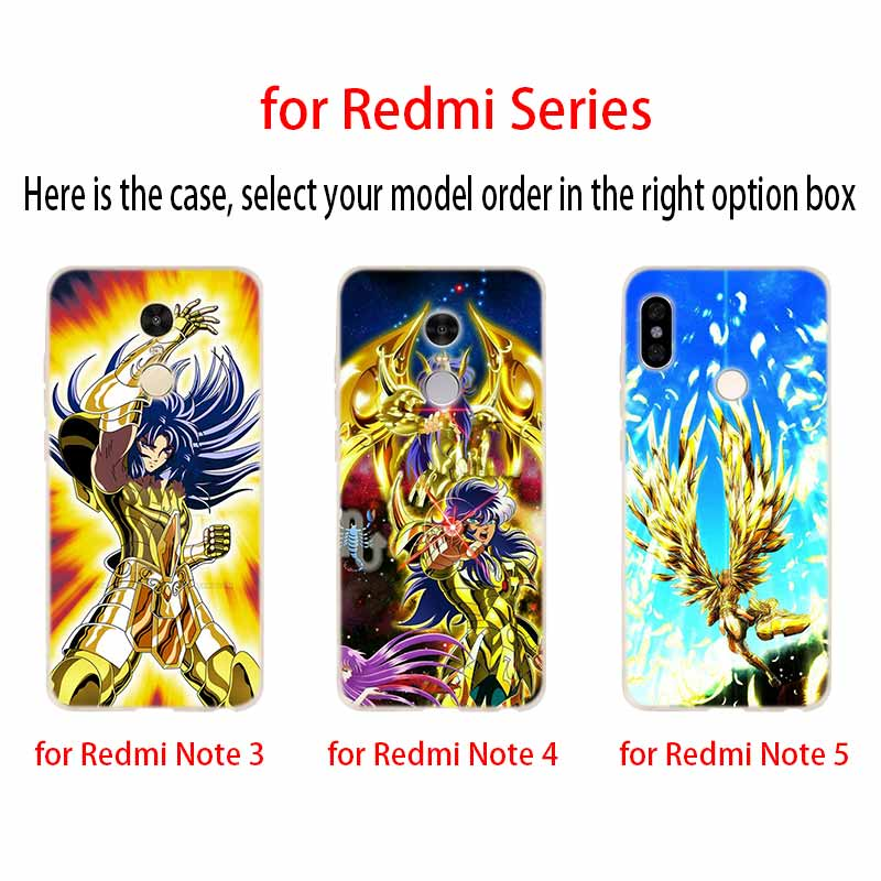 Image 5 - Saint Seiya Fashion Soft TPU Case Cover For Coque Xiaomi Redmi 8A 4A 5A 6A 4X 5 Plus 6 Pro Note 8 7 Pro 6 5Fitted Cases   -