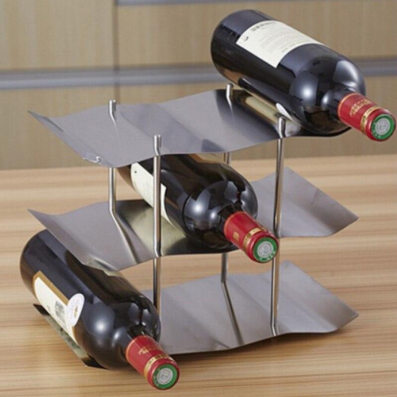 Support de bouteille de vin de barre d'acier inoxydable de haute qualité européenne