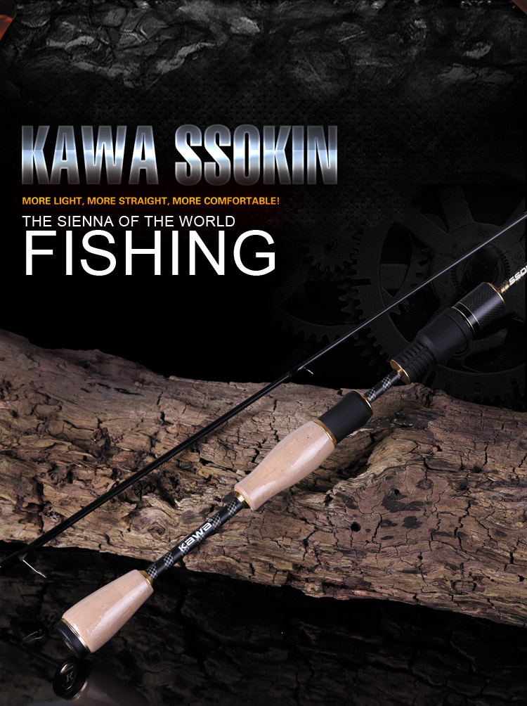 KAWA New Lure rods SSOKIN Series, Trout  Whitefish  Makou and Mandarin fish lure rod, Z Type Guide ring, free shipping