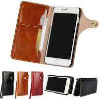 Leather Cover For IPhone 7 Cases Wallet Bag Top Genuine Leather Mobile Phone Accessory For IPhone
