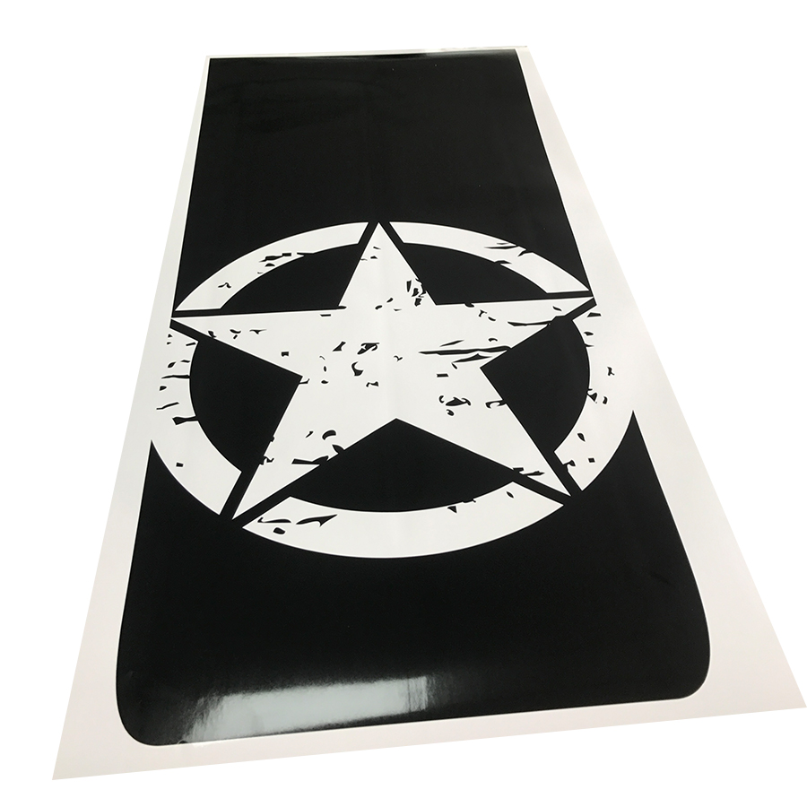 1pc band brothers emblem star five pointed decal hood graphic vinyl car sticker for toyota hilux