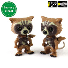high quality rockets raccoon bear LED keychains creative accessories for Children gift LED flashlight wholesale