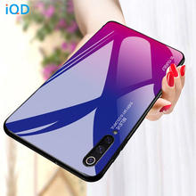 IQD Gradient Glass For Xiaomi Mi 9 SE Phone Case Protective Shell for Redmi Note 7 Cases Soft TPU Bumper Back Cover 8
