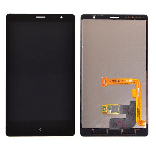 A++ lcd display screen with touch screen digitizer with frame complete assembly black for Nokia X RM980