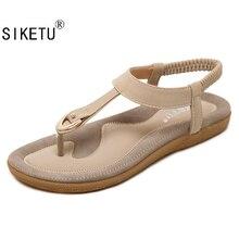 Siketu новые летние женские модные сандалии Высокое качество Европа и Америка в богемном стиле удобные женские сандалии 35-42 Q33-17