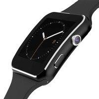 Bluetooth relógio inteligente x6 smartwatch esporte relógio para homens suporte sim tf cartão pedômetro para ios android telefone dropshipping|smart watch x6|bluetooth smart watch|smart watch -